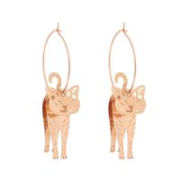 Arany színű cicás fülbevaló