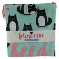Cicás kötény - fekete macska