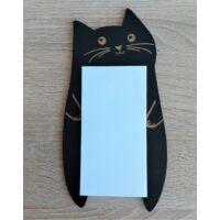 fekete macskás jegyzettömb