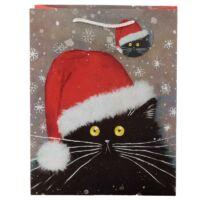 macskás ajándéktasak karácsony