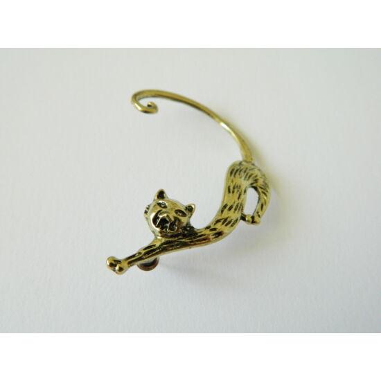 macskás fülbevaló