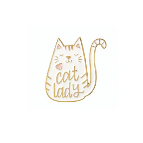 Kitűző cat lady