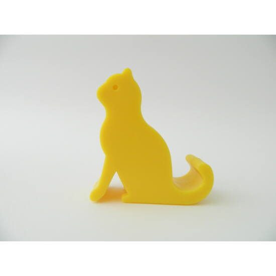 telefontartó cica sárga