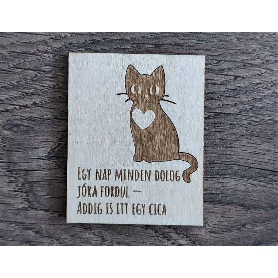 hűtőmágnes itt egy cica