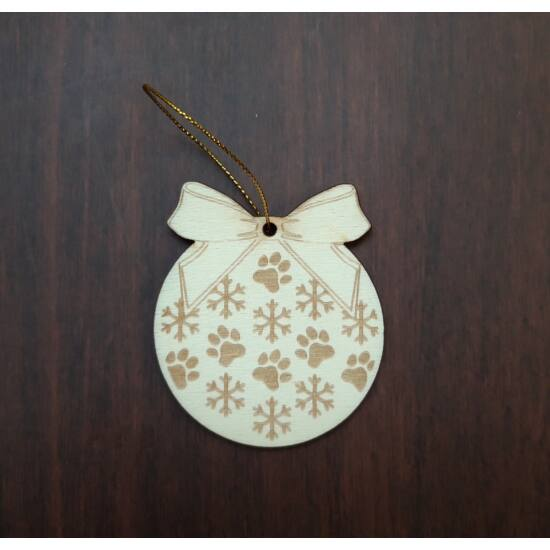cicás karácsonyfadísz hópihe