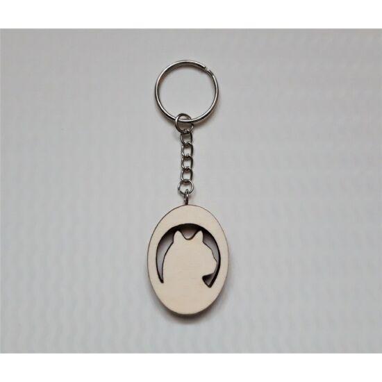 cica alakú kulcstartó