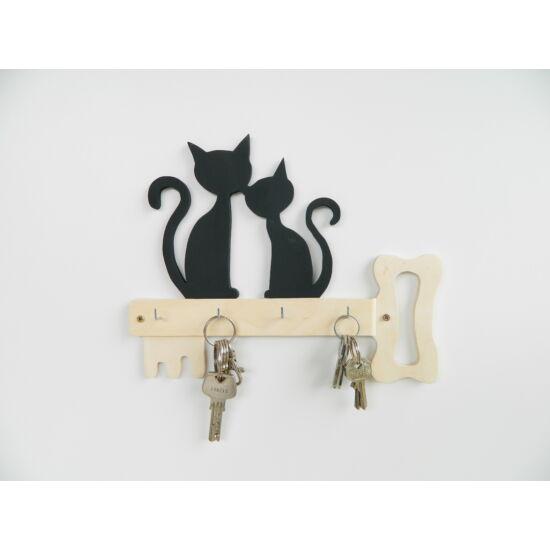 cicás kulcsakasztó két cica