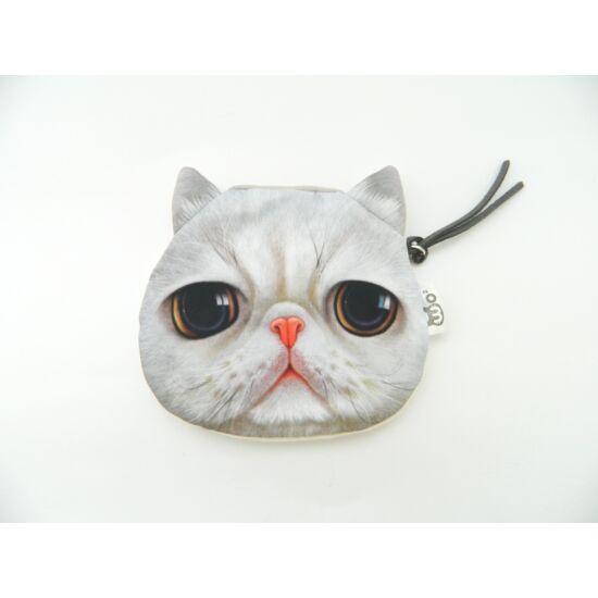 Fehér cica pénztárca