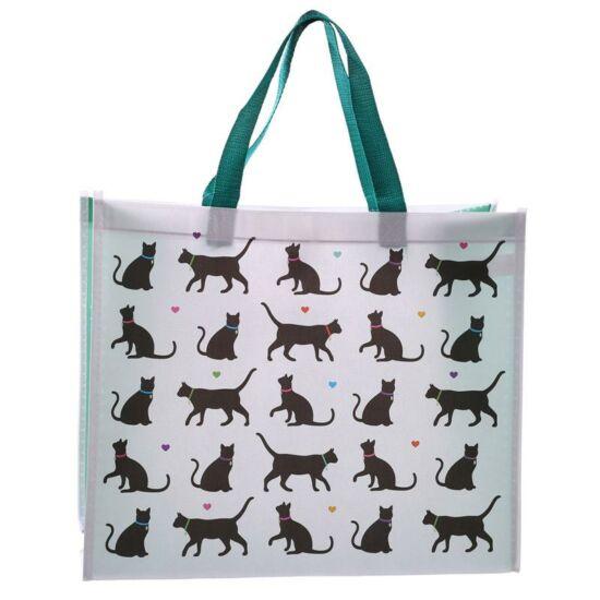 bevásárlótáska sok fekete cica
