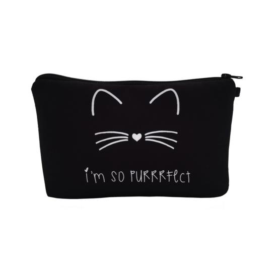fekete cica neszeszer