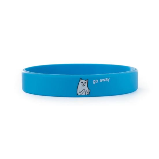 kék szilikon karkötő macskás