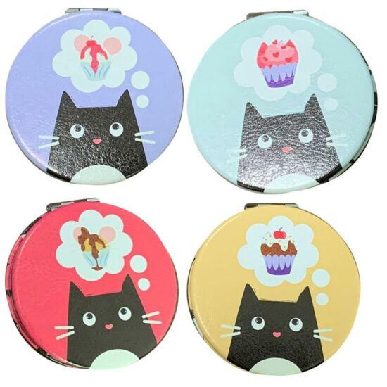 kinyitható tükör fekete macskás