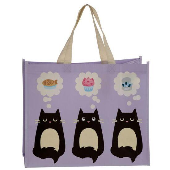 bevásárlótáska fekete macska